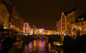 Visiting Festive Ljubljana in December with camper