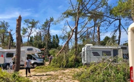 Huge storm and damage in camping in Zadar