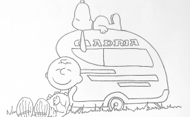 Coloring pages of Adria caravans and motorhomes