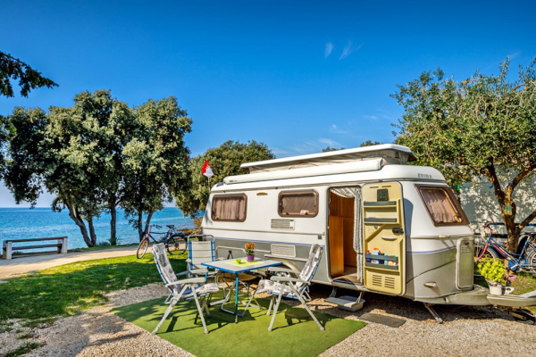 Winter camping and rental of mobile homes in Vrsar, Croatian Istria