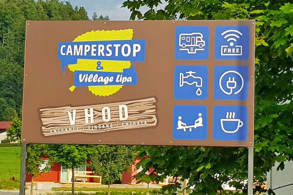New camperstop and mobile homes in Ljubljana's outskirts